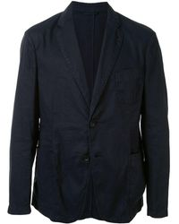 Giorgio Armani Single-breasted Blazer - Blue