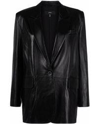 Arma レザー シングルジャケット - ブラック
