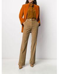 Victoria Beckham コーデュロイ シングルジャケット - オレンジ