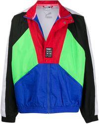 PUMA Sportjacke in Colour-Block-Optik - Blau