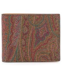Etro Paisley Print Wallet - Brown