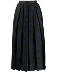 Erika Cavallini Semi Couture ゼブラ プリーツスカート - マルチカラー