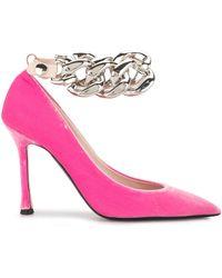 N°21 ベルベット パンプス - ピンク