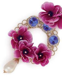 Dolce & Gabbana Серьги-подвески С Цветочным Декором - Многоцветный