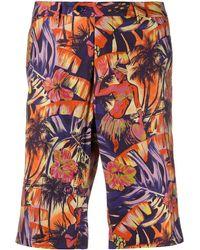 Etro Hawaiian Print Shorts - Orange