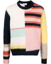 Lanvin カラーブロック セーター - ブルー