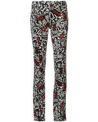 Paco Rabanne Printed Jeans - Black