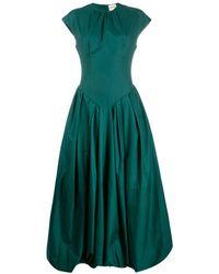 Khaite ロング プリーツドレス - グリーン