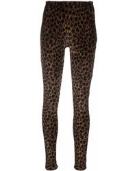 Amen High-waisted Trousers - Brown