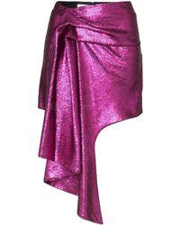 Halpern Asymmetric Hem Mini Skirt - Purple