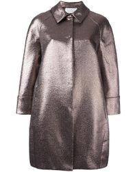 Gianluca Capannolo - Collared Cotton-Blend Metallic Coat - Lyst