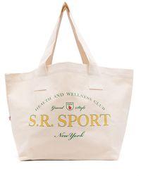 Sporty & Rich Wimbledon Logo-print Tote Bag - Multicolour