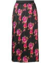 Liu Jo - Floral Print Pleated Skirt - Lyst