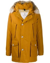 Woolrich Mid-length Parka Coat - Brown
