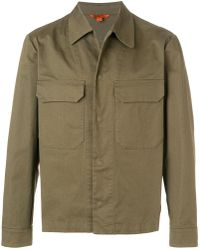 Barena Button Shirt Jacket - Green