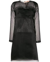 N°21 シアーディテール ドレス - ブラック