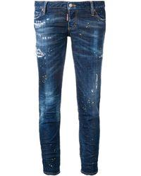 DSquared² - Paint Splattered Skinny Jeans - Lyst