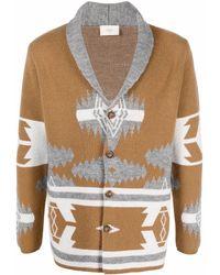 Altea Intarsia-knit Wool Cardigan - Brown