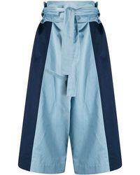 Marni Panelled Wide-leg Trousers - Blue