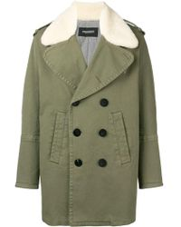 Neil Barrett Military Shearling Coat - Green
