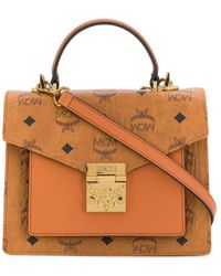 MCM Small Patricia Satchell Bag - Brown