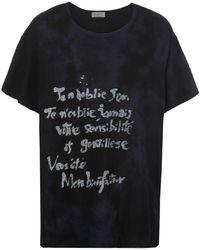 Yohji Yamamoto ラウンドネック Tシャツ - ブラック
