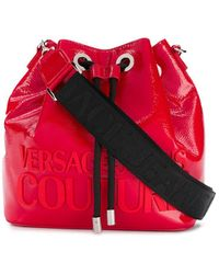 Versace Jeans Couture ロゴ バケットバッグ - レッド