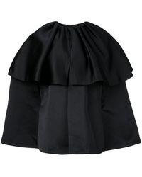 Adam Lippes ケープジャケット - ブラック