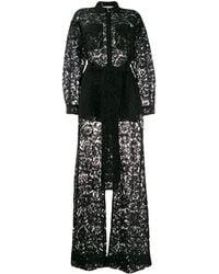 Valentino Combi-pantalon en dentelle - Noir