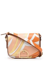 Emilio Pucci Abstract Swirl Print Saddle Bag - Multicolor