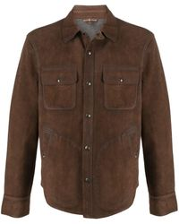 Polo Ralph Lauren Suede Leather Jacket - Brown