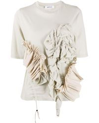 Enfold ラッフルディテール Tシャツ - マルチカラー