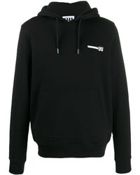 Les Hommes Logo Print Hoodie - Black