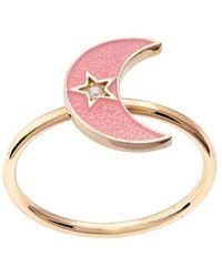 Andrea Fohrman 18kt Yellow Gold Crescent Moon Ring - Metallic