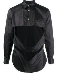 Comme des Garçons Рубашка На Пуговицах С Вырезами - Черный