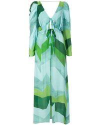 Clube Bossa Платье Darina С Принтом - Зеленый