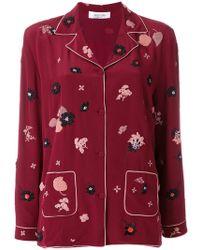 Valentino - Floral Patch Pyjama Top - Lyst