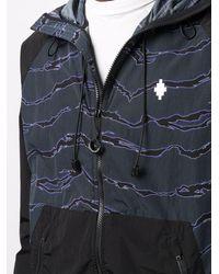 Marcelo Burlon All Over Camouflage Windbreaker Jacket - Blue