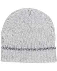 Eleventy - Fitted Knitted Hat - Lyst
