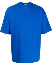 Balenciaga T-shirt Met Logo - Blauw