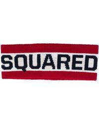DSquared² ロゴジャカード ヘアバンド - レッド