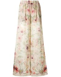 7 For All Mankind - Floral Palazzo Trousers - Lyst