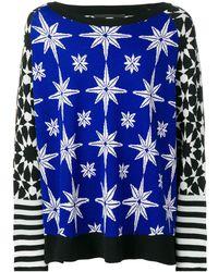 Haider Ackermann コントラストパネル セーター - ブルー