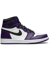 Nike Air 1 Retro High Og Court Purple 2.0 スニーカー - ホワイト