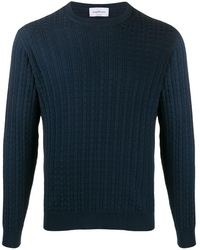 Ferragamo Textured-knit Sweater - Blue