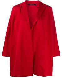 Sofie D'Hoore Manteau ample à design ouvert devant - Rouge