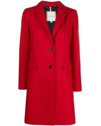 Tommy Hilfiger Single-breasted Coat - Red