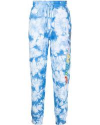 RIPNDIP Pantalones de chándal con estampado tie-dye - Azul