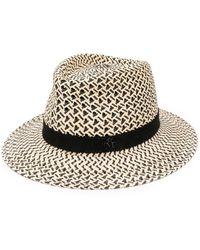 Maison Michel Andre Panama Trilby Hat - Multicolour