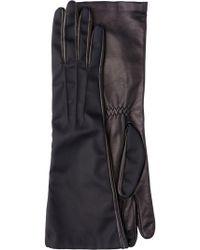 Prada - Long Nylon And Leather Gloves - Lyst